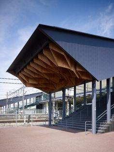 HipLap - n-architektur: Hoshakuji Station Kengo Kuma