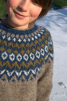 Knitting Wool, Knitting For Kids, Hand Knitting, Fair Isle Knitting Patterns, Knitting Charts, Boys Sweaters, Winter Sweaters, Pull Crochet, Knit Crochet