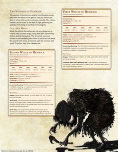 Witches of Hemwick: DnD 5e Homebrew