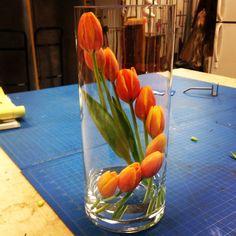 A creative way to arrange tulips
