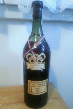 Ancienne bouteille de #Chartreuse jaune cuvée spéciale Jeux Olympiques de Grenoble 1968