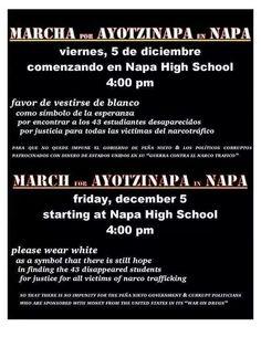 #AYOTZINAPA SOMOS TODOS #ES VIERNES  NAPA CAL