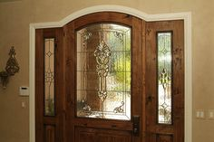 Entryway Stained Glass Door & Sidelight   Whether your entry…   Flickr