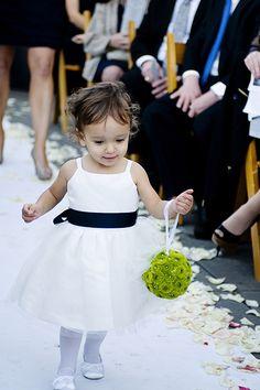 A classic, adorable flower girl look  http://www.lynallan.com/girls/infant-girls/skb394#.U8sBB7GmXAk