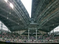 Milwaukee! Miller Park (home of Milwaukee Brewers baseball team) roof partly open by sokref1, via Flickr