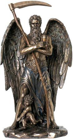 Chronos la estatua dios griego del Tiempo del griego y Colección de Esculturas Reproducción Arte Romano