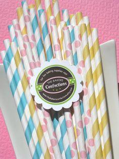Pastel Straws for Easter