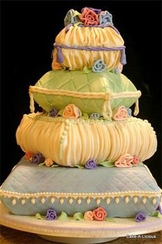 Created by: Cake-A-Licious. So, I don't understand the intrigue with pillow cakes? Unique Wedding Cakes, Unique Cakes, Creative Cakes, Elegant Wedding, Pillow Wedding Cakes, Pillow Cakes, Gorgeous Cakes, Pretty Cakes, Amazing Cakes