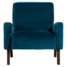 Marlon Armchair in Teal Velvet