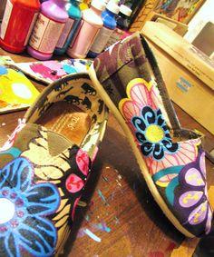 Inspiring!  Painted Toms