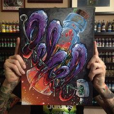 Gift canvas for talented @lehelchaos🤘🏾Thanks the support Bro🎨🙌🏾 #lehel #fork4 #afx #budapest #tattoo #needle #ink #nyfatcap #blood #organic #style #tattooart #molotowpremium #one4all #marker #spray #canvas #gift #mystyle #art #paint #tattooed