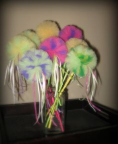 tinkerbell party fairy princess puff wands