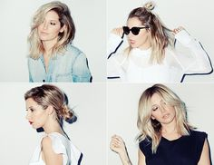 Exclusive: Ashley Tisdale Shows Off 4 Ways To Style A Summer Lob via @byrdiebeauty