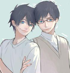 Rin and Yukio Okumura Ao No Exorcist, Exorcist Anime, Blue Exorcist, Rin Okumura, All Anime, Me Me Me Anime, Manhwa, Otaku, Rwby Oc