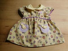 Puppenkleidung-fuer-Babyborn-original-Babyborn-Sommerkleid-gelb-lila