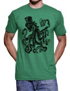 Saint Patricks Day Octopus T Shirt St Patties Day Funny Tee - American Apparel - S M L Xl Xxl (Color Options)