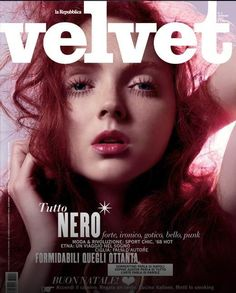 Velvet Magazine January 2007 Cover (Velvet Magazine) Red Hair Model, Lily Cole, British Fashion Awards, Vogue Covers, Cover Model, Beautiful Redhead, Lady And Gentlemen, Covergirl, Supermodels