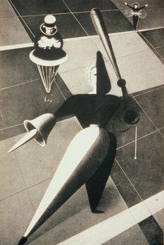1922--German--Oskar Schlemmer--Triadic Ballet. | Flickr: Intercambio de fotos