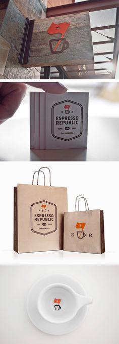 Salih Kucukaga / #randing – Espresso Republic. Cool sign!