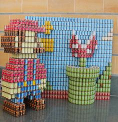 Mario at the Weston Art Gallery for Canstruction 2014
