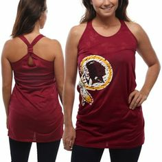 Washington Redskins Women's Burnout Nightshirt - Burgundy