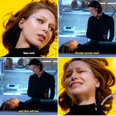 Broken arms heal, and this will too. #Supergirl #1x16