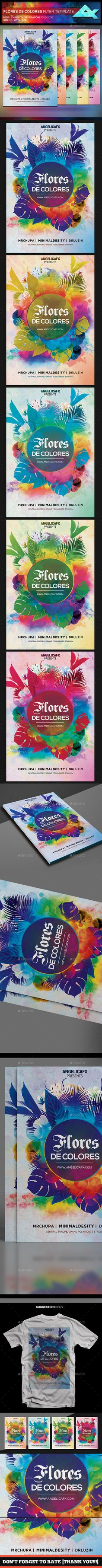 Colores de Flores Flyer Template — Photoshop PSD #sounds #music • Available here → https://graphicriver.net/item/colores-de-flores-flyer-template/19814789?ref=pxcr