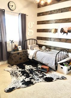 Big boy room Cowgirl Bedroom, Western Bedroom Decor, Western Rooms, Dream Rooms, Dream Bedroom, Cozy Room, Room Ideas Bedroom, My New Room, Room Inspiration