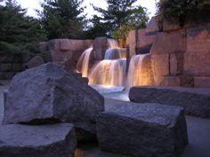 FDR Memorial fountain