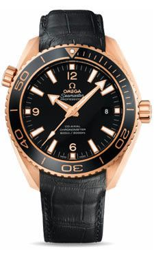 Omega Seamaster Planet Ocean 600 M Co-Axial 45.5 mm Red Gold Leather Strap