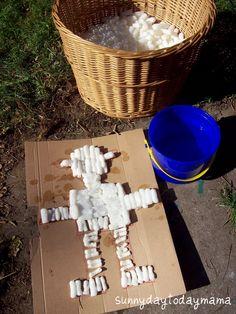 sunnydaytodaymama: Crafts with packing peanuts