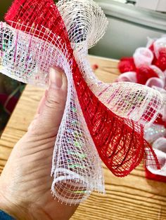 How to Make a Rolled Deco Mesh Wreath - Weekends in the Loft DIY rolled deco mesh wreath DIY Valentines decor Deco Mesh Christmas Wreaths Diy, Deco Mesh Garland, Mesh Ribbon Wreaths, Fall Mesh Wreaths, Deco Mesh Wreaths, Spring Wreaths, Yarn Wreaths, Deco Mesh Wreath Tutorial, Winter Wreaths