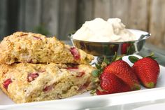 strawberry basil scones  i dont love a scone... but if i did... i would probably love these
