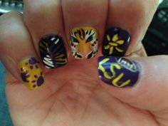 LSU Nails for the the season opener. Thanks Vy!!