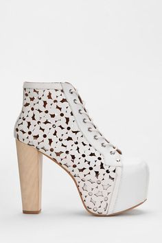 Jeffrey Campbell X UO Daisy Cutout Leather Lita Boot - These. Are. Epic. #urbanoutfitters