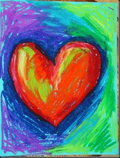 warm/cool color hearts