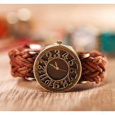 Bracelet Leather Watch, Women Wrap Watch, Unique Wrist Watch, Christmas Gift, Birthday Gift on Etsy, $8.99