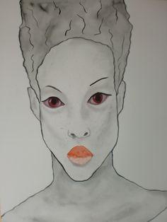 Portrait Tallulah, 50x70cm aquarel/watercolor
