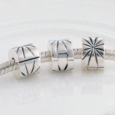 Fuochi d'artificio clip in argento charm bead 100% argento 925 adatta misure Pandora charm Pandora bead Braccialetto europeo STKT125-N di OceanBijoux su Etsy