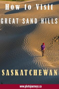 The Great Sand Hills in southern Saskatchewan, Canada, are the second largest sand dunes in Canada and are easily accessible. Find out what makes them special, and how to make the most of your visit to see active dunes. Places To Travel, Places To See, Travel Stuff, Visit Canada, Canada Eh, Vacation Ideas, Vacation Destinations, Vacations, Cross Canada Road Trip