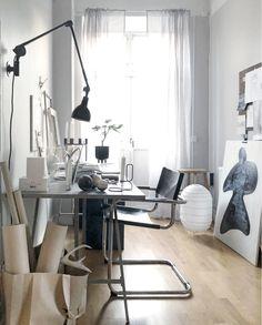 my scandinavian home: A Monochrome Swedish Home Where Creativity Shines Through