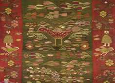 Christine Brown on Romanian Textiles, Part The Lecture Contemporary Decorative Art, Textile Museum, Naive Art, Traditional Rugs, Rug Hooking, Fantasy Creatures, Rugs On Carpet, Flower Art, Folk Art