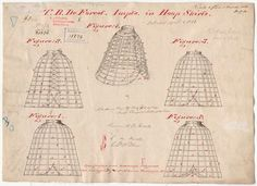 Patent number 31876 Improvement in Hoop Skirts T.B. De Forest