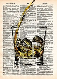 Whiskey splash art, Pour yourself some whiskey, man cave art, Bourbon splash art