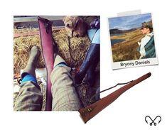 Our own Highland Lassie Bryony Daniels, with her Chapman canvas gun slip! Shooting Accessories, Bag Accessories, Leather Craft, Leather Bag, Create And Craft, Brand Ambassador, Slip Stitch, Guns, Slip On
