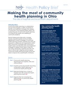Making the most of community health planning in Ohio, HPIO brief