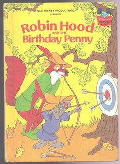 Disney's Wonderful World of Reading Book ROBIN HOOD AND THE BIRTHDAY PENNY