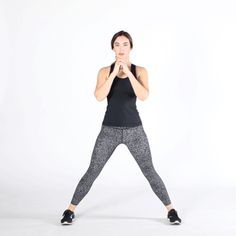 10 Exercises That Will Get Rid of Hip Dips - Myeva for Healthcare, Skin care & Beauty Dip Workout, Plyometric Workout, Gym Workout Tips, Workout Warm Up, Butt Workout, Thigh Workouts, Fitness Workouts, Side Lunges, Workout Exercises