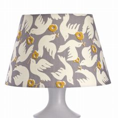 Medium Doves Shade in Grey £50.00 - Shades Designer Lamps UK|Painted Wood Table Lamps|Bedside Lights