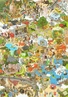 Isometric Art, Isometric Design, Illustration Story, Puzzle Art, Environment Design, Fantasy Landscape, Illustrations And Posters, Fantasy Artwork, Cute Drawings